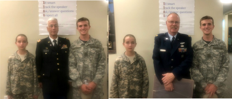 Kids with Cpt Elliott and Maj Workman