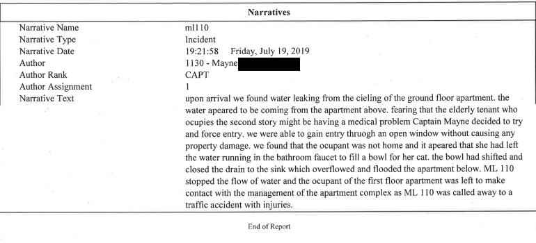 Fire Dept Report